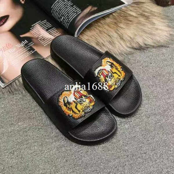 38e385e24f9e2e 2017 hotsale mens and womens fashion flower blooms printing leather slide  sandals adults unisex beach flip
