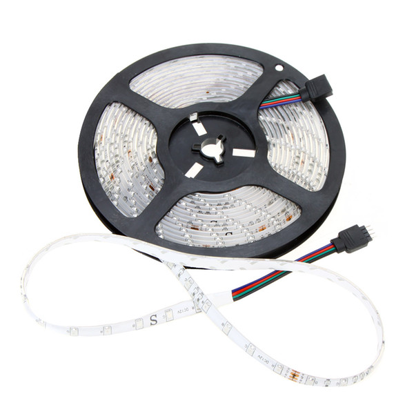 RGB Led Strip light Waterproof 5M SMD 3528 300 LEDs/Roll + 44 keys Remote Controller + 12V 2A Power supply US EU UK AU plug Party Decoration