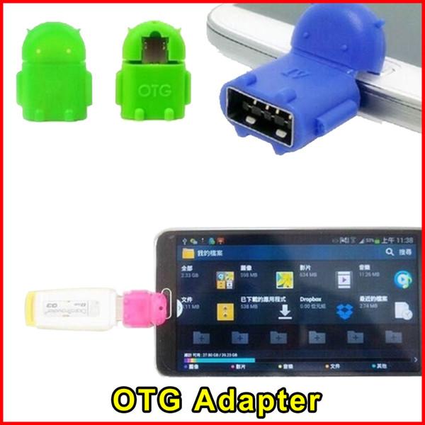 Mini Robot Forma Micro USB OTG Adaptador Android Converter para Tablet PC Ratón Teclado Smartphone para Samsung Sony Envío gratis
