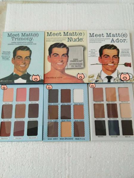 Vente chaude Fard À Paupières La Marque Rencontrez Matt (e) Trimony Nude Ador Fard À Paupières 9 couleurs Palette EyeShadow Face Bronzer Beauté Maquillage Blender