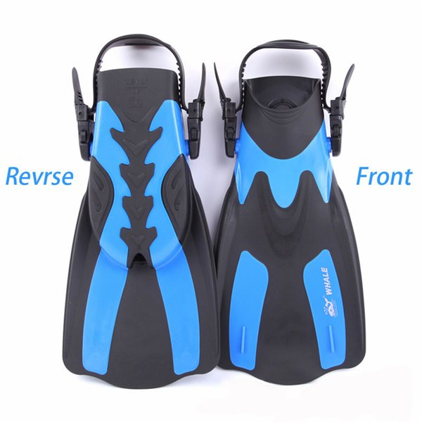 Yellow Adjustable Training Swimming Snorkeling Scuba Fins Flippers Large