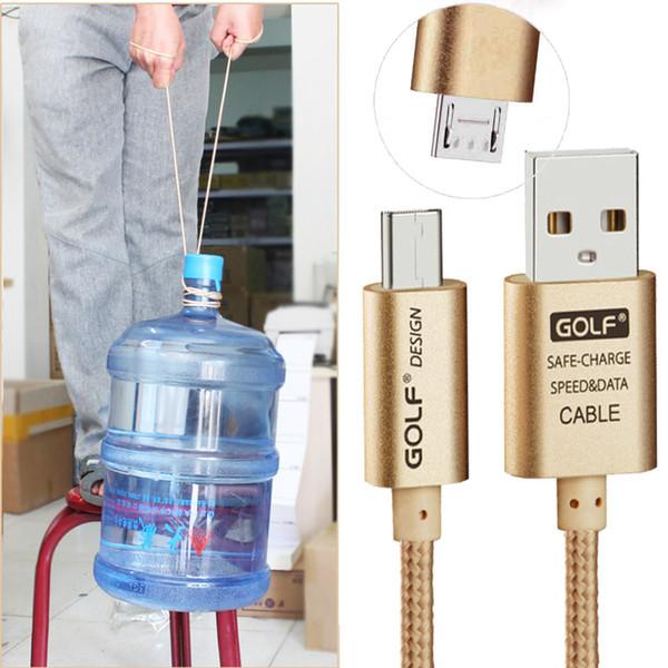 Toptan-Golf Naylon Örgülü Yeterince 2.1A Uzun Usb Şarj Mikro USB Kablosu Için Teclast X80 Artı / X80HD X-Pad 8