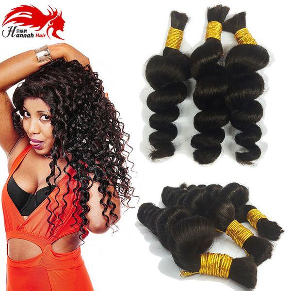 top popular Human Hair For Micro Braids Loose Wave Human Braiding Hair Bulk No Weft Peruvian Braiding Bulk Hair 2019