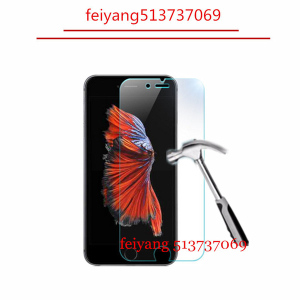 50pcs 9H 2.5D Tempered Glass Explosion Proof screen protector Film for iPhone 8 5 5s 5c 6 6s 4s 4 7 plus