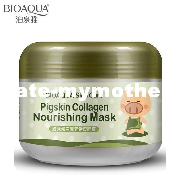 BIOAQUA Brand Face Skin Care Pigskin Collagen Sleeping Mask Shrink Pore Moisturizing Treatment Facial Masks 100g