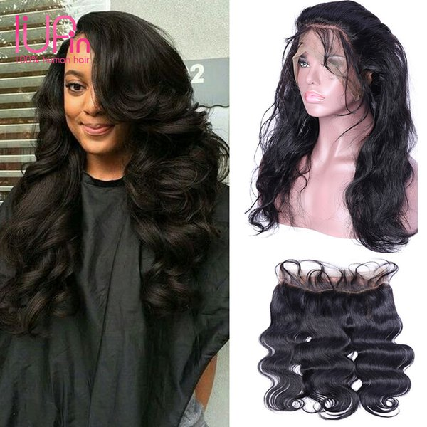 360 Full Lace Frontal Closure Brazilian Virgin Hair Straight Body Deep Curly Loose Wave Brazilian Human Hair Pre-plucke 360 Natural Hairline