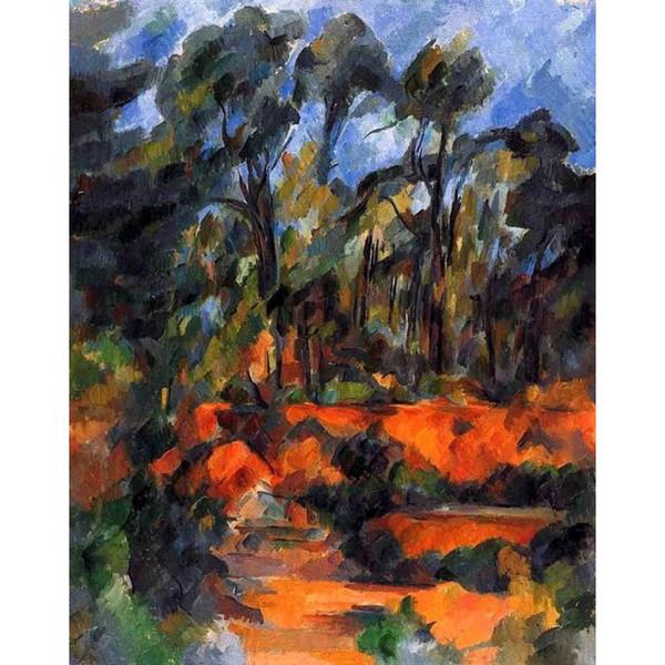 Peintures à l'huile à peindre réalisées par Paul Cézanne Forêt II