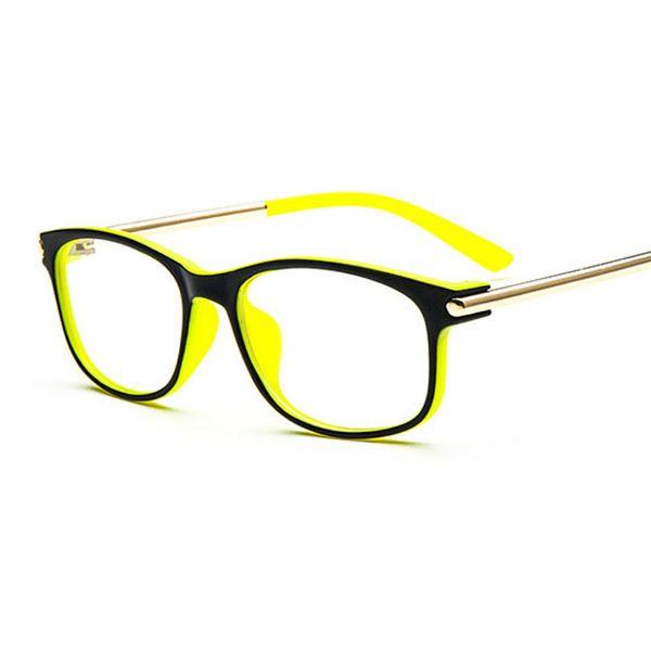 Wholesale- New Style Unisex Full Rim Clear Lens Eyeglasses Slim Eyeglasses Multicolor Glasses Glass Frame
