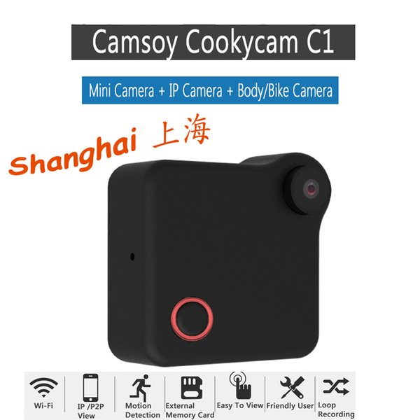 CAMSOY C1 Wireless Mini DV WIFI IP Cam HD720P Magnetic Clip Bike Police Body Camera
