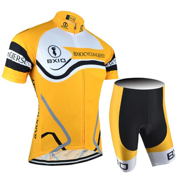 BXIO Orange Bright Cycling Jerseys Can Be Choose Bibs Or No Bibs Men Cycle Clothing Sets Summer Bikes Clothes MTB Bicycle Jerseys BX-084