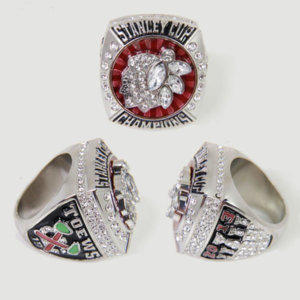 2013 Chicago Blackhawks Stanley Cup Championnat Anneau pour Hommes Anneau De Mariage En Vente, Sport Fans Cadeau Anneau Bijoux