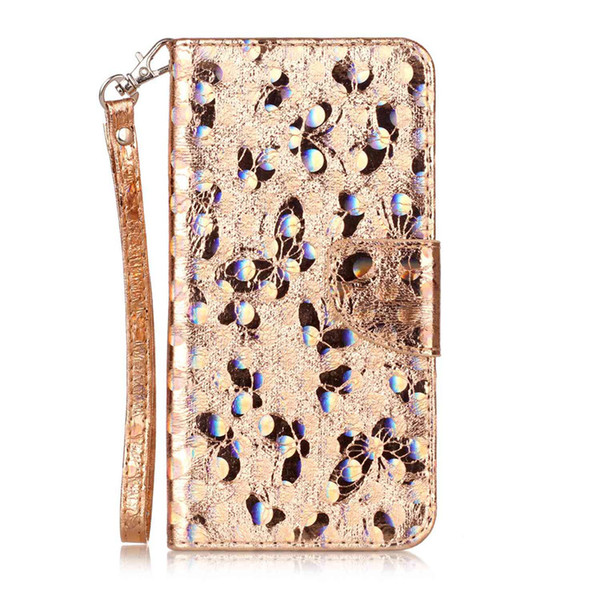 Fashion PU Leather Case For fundas Samsung Galaxy J720 J7 2017 Cover Phone Bag Laser Carving Butterfly Wallet Stand Mobile Phone Case