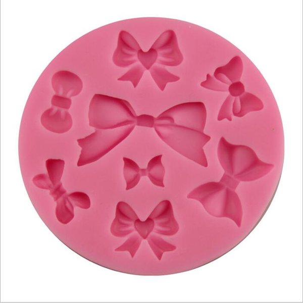 best selling Fashion New Food Grade DIY Bow Tie Silicone Mold Cake Mold Silicone Baking Tools Kitchen Accessories Decorations Fondant