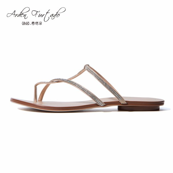 Arden Furtado 2017 Summer Women Shoes Ladies falts slippers casual Fashion Woman crystal home slides plus size satin flip flops