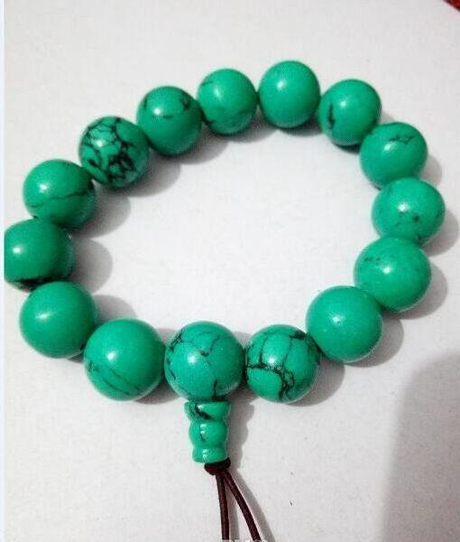 Natürliches Türkis Perlen Armband mit kostenlosem Versand