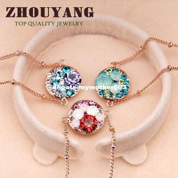 Top Quality Lovely Cartoon Rose Glod Color Bracelet Jewelry Elements Austrian Crystals Wholesale ZYH116 ZYH161 ZYH170