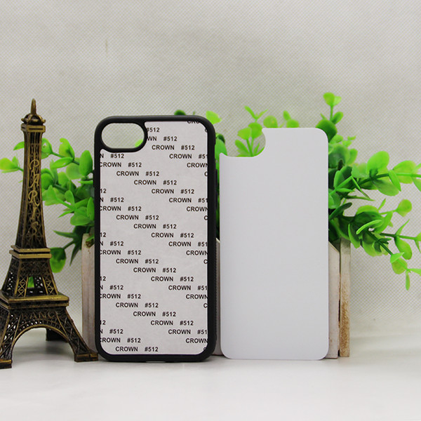200 pcs Wholesale 2D Sublimation Cases For iPhone 7 7plus DIY Style Hard PC Back Covers with Aluminium Metal Blank Insert