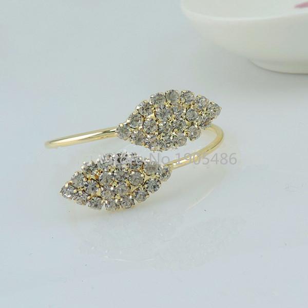 Wholesale- 12pcs/lot crystal Diamonds Napkin Ring/Wrap Serviette Holder Wedding Banquet Party Dinner Table Decoration Home Decoration