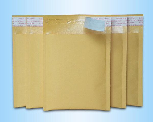 best selling Free Shipping 30pcs 180*150mm Small Kraft Bubble Mailers Padded Envelope Package Supply Pouches Bags DIY Jewelry Packaging N197
