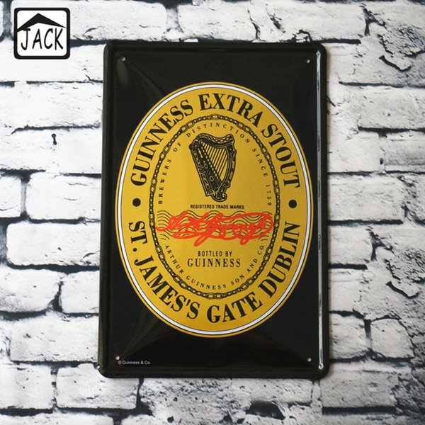 GUINNESS Beer Wine Advertising Paintings Vintage Metal Tin Signs Bar Club Poster Pub Wall Decor Iron Plate Retro Plaque