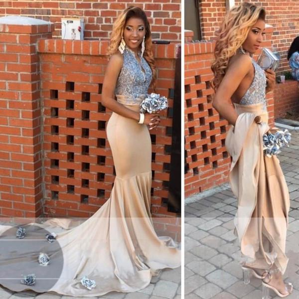 2018 sexy cheap plus size black dresses abendkleider mermaid prom ...