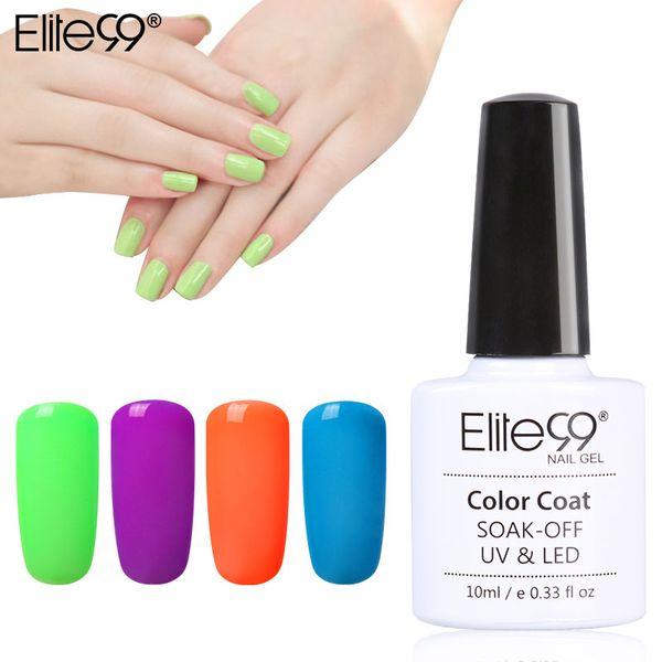 Wholesale-Elite99 10ml Candy Colors Fluorescent Neon Luminous Nail Art Polish Glow In Dark Varnish Nail Gel Liquid Palisade Nail Polish