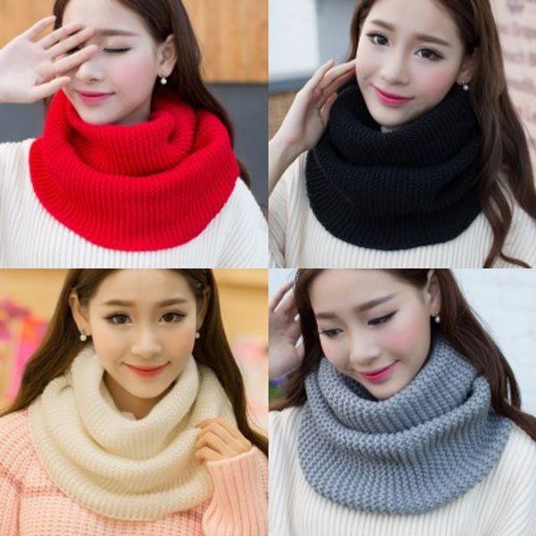 Bufandas calientes Dos Círculos de punto Cuello capucha Chales largos Hijab Hombres Mujeres Invierno Tejer Lana Cuello Cuello Cuello bufanda Bufanda