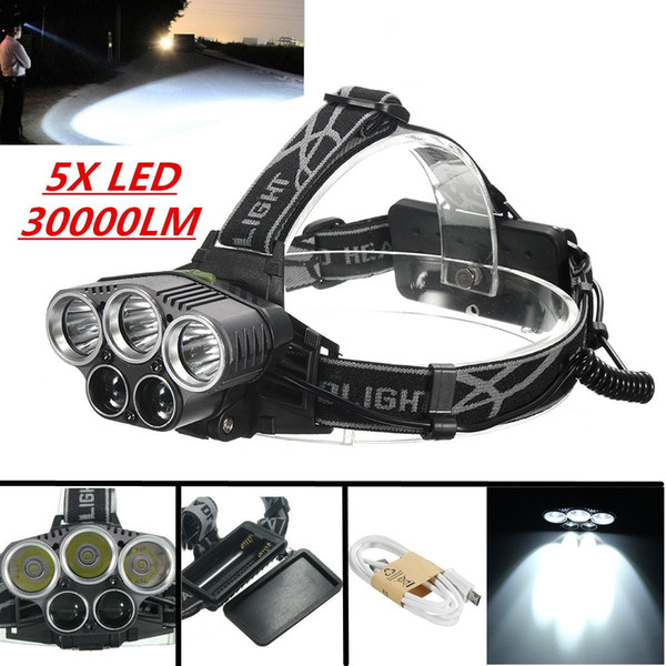 Zoomable T6 Xm-L + 2R5 Led phare