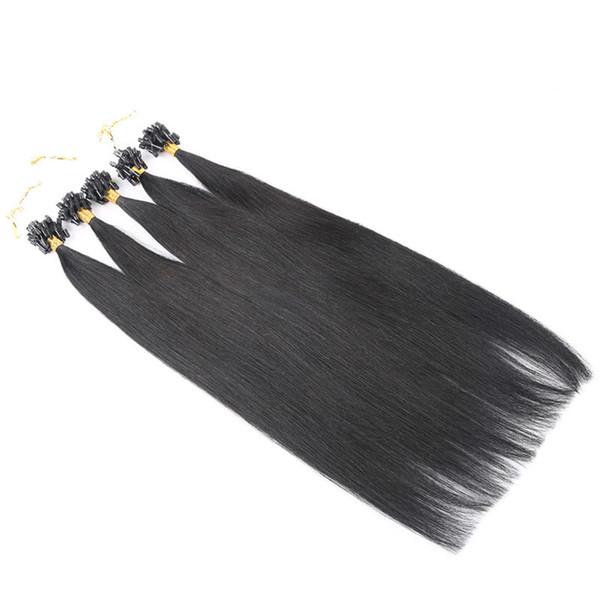 # 1 extensiones de cabello Micro loop doble dibujado micro anillo de extensión del cabello 1g / strand 200strands / lot virgen micro extensiones de cabello