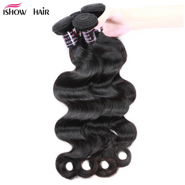 Body Wave Paquetes de cabello humano peruano indio Virgin Paquetes de cabello Barato 8A paquetes de cabello brasileño 10PCS al por mayor para las mujeres negras