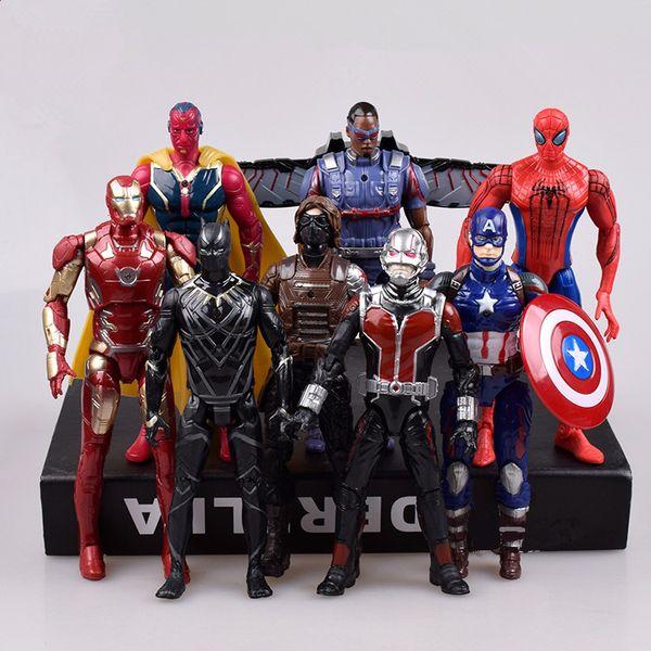 Compre Os Vingadores Capitão América Homem Aranha Thor Hulk Wolverine Homem Formiga Figuras De Ação Brinquedos Pvc Dos Desenhos Animados Quadrinhos