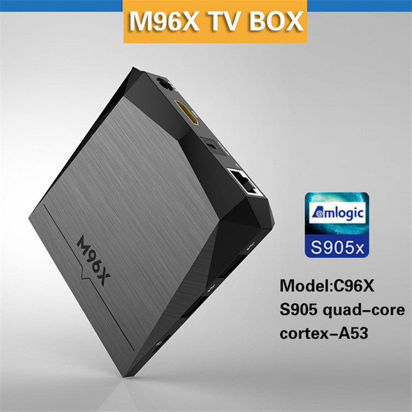 M96X set-top box Amlogic S905X 2G+8G Andrews 6.016.1 4K ultra-clear Set Top Box Media player 2.0 HD WIFI