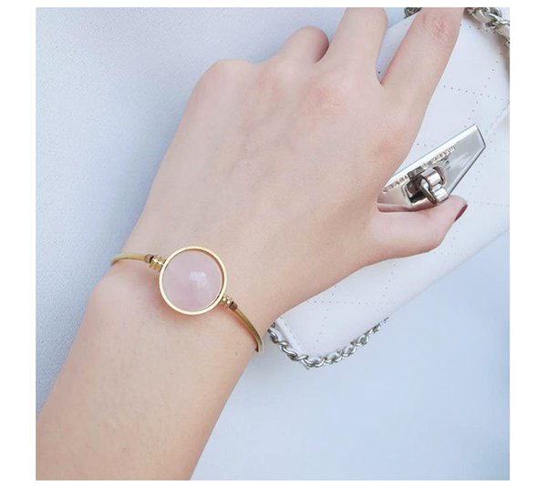 Fashion Alloy Chain Natural Stone Lucky Charm Bead Bracelet For Women Bracelets Bangle Jewelry Pulseiras