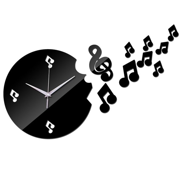 Atacado-2016 hot sale home decoração acrílico espelho relógios seguro design moderno novo relógio de parede relógio de quartzo de agulha etiqueta frete grátis