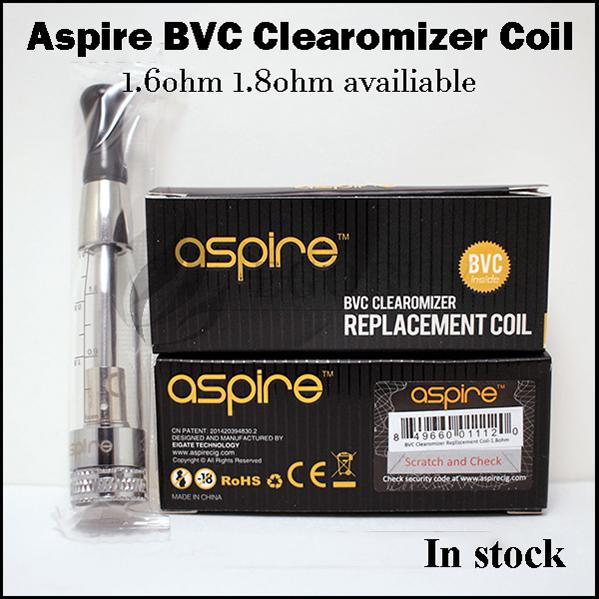 100% Original Aspire aspire bvc coils clearomizer coil head for genuine Aspire CE5s vivi-nova mini maxi e-pen ce5 k1 ET-S ets glass atomizer