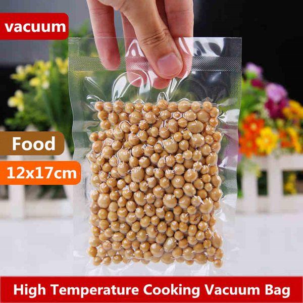 12x17 cm Hochtemperatur Kochen Vakuum Klare Verpackung Gefrierschrank Lebensmittel Schoner Aufbewahrung Taschen Fleisch Snacks Lagerung Versiegelung Kunststoff Verpackungsbeutel