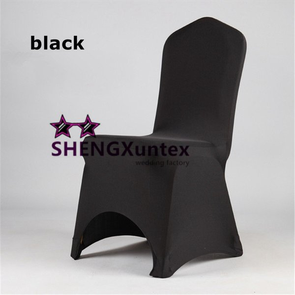 Black Color For Wedding Lycra Spandex Chair Cover Free Shipping