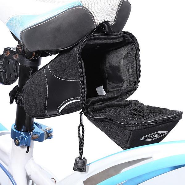 Großhandel 2017 outdoor radfahren mountainbike fahrrad wasserdichte satteltasche schnellverschluss rücksitz taille paket versandkostenfrei