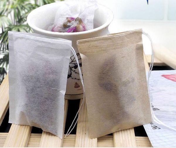 top popular 60 X 80mm Wood Pulp Filter Paper Disposable Tea Strainer Filters Bag Single Drawstring Heal Seal Tea Bags No bleach Go Green ZA1419 2019