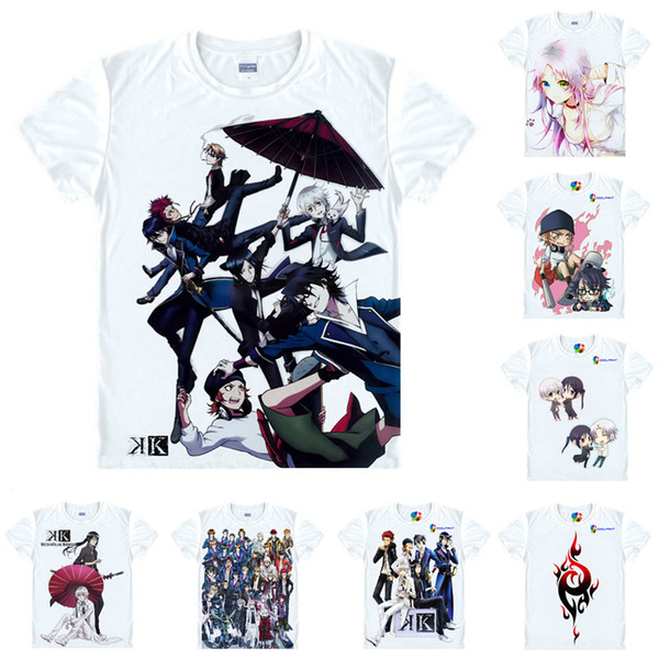 Anime Shirt K, K Project T-Shirts Multi-style Short Sleeve The Red King Mikoto Suoh Cosplay Motivs Hentai Shirts