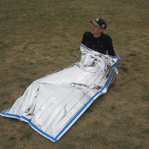 Tragbarer Leichter Outdoor-Notschlafsack mit Kordelzug f/ür Campingreisen und Wandern