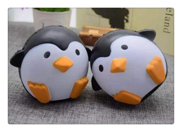 Kawai Squishy pinguini antartici Jumbo Squishy Ciondolo lento in aumento Cinghie per cellulare Charms Queeze Giocattoli per bambini Cute squishies Pane