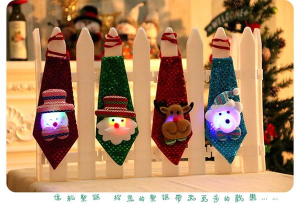 2017 Nouvelles décorations de Noël Cravates pour enfants et adultes mignon Père Noël Cravates meilleurs cadeaux de décoration de Noël