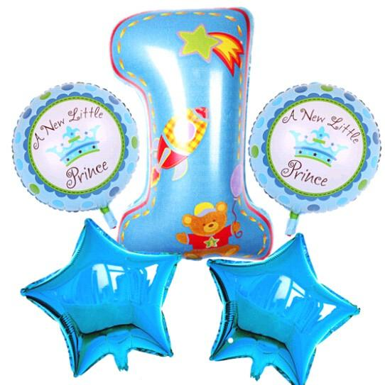 Happy Birthday Decoration Number Balloon Pink Blue Baloon Helium Foil Balloons Baby 1th