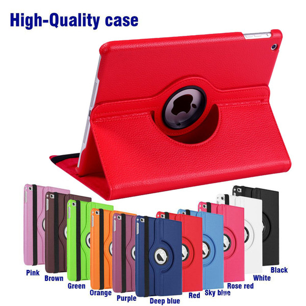 best selling 360 Rotating leather case Smart cover For iPad pro 9.7 air3 air 2 3 4 5 6 7