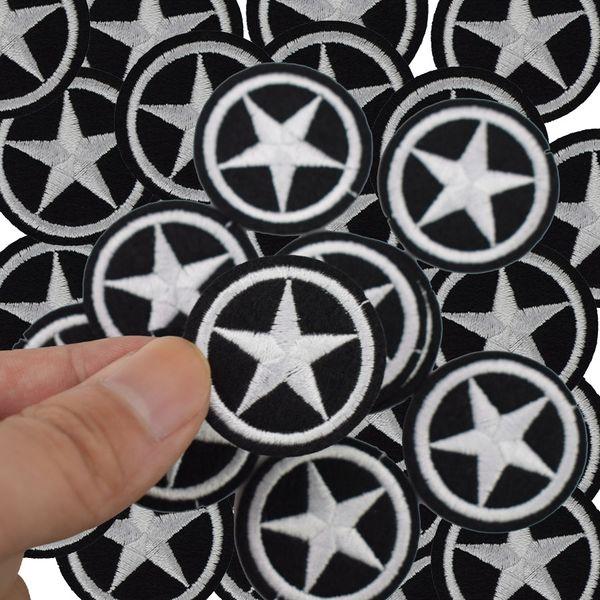 Parches de la estrella de bricolaje para la ropa de hierro en parche bordado apliques de hierro en parches accesorios de costura pegatinas insignia para zapatos