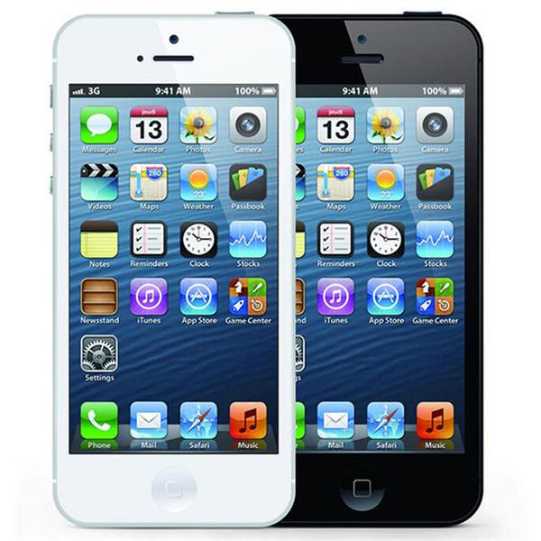 Remodelado Original Apple iPhone 5 16 GB / 32 GB / 64 GB 4.0 polegada Dual Core 1G RAM IOS8 3G 8MP 1080 P Desbloqueado Móvel Telefone Inteligente Livre DHL 1 pcs