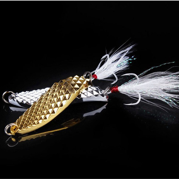 5PCS Golden and Silver Spoons Lures Combo Lifelike Bloodsucker Fishing Lures Sets 7g 10g 15g 20g Fake Metal Baits for Saltwater