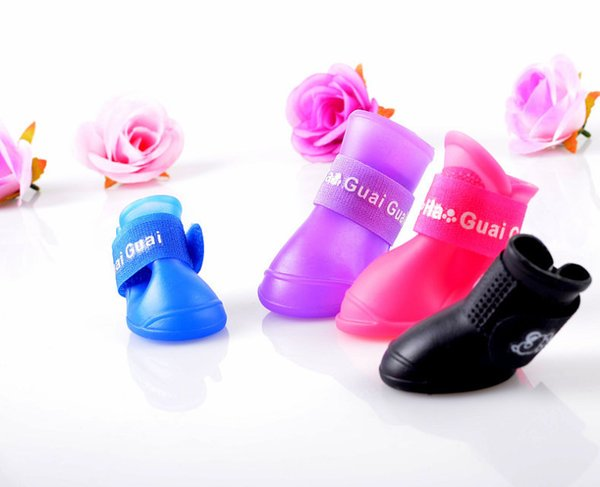 Estrella Dog Boots Silicone Anti-skid Rain Shoes Pet Shoes Dog Paw Protector Five Sizes And 8 Colors Supply Free shipping