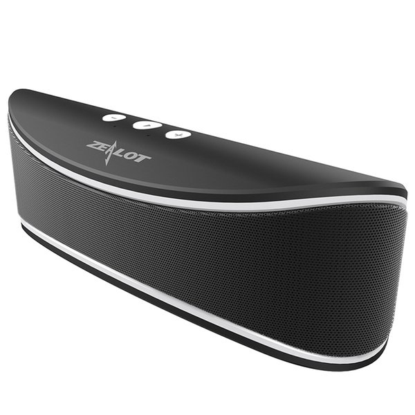 Wholesale- New Arrival Zealot S2 Portable Bluetooth Wireless Music Speaker TF card / USB Flash Drive FM radio Big Bass Stereo with Mic